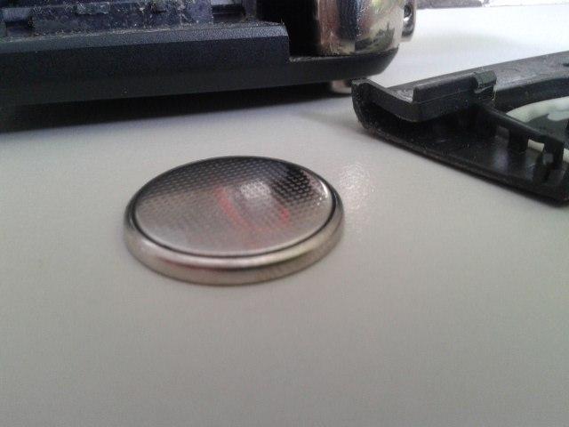 Ключ раздулся в области кнопки багажника