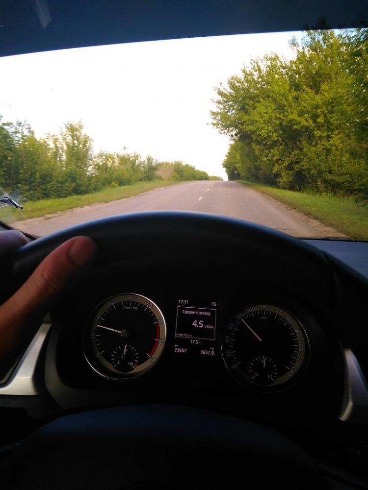 Расход по трассе на Skoda Rapid