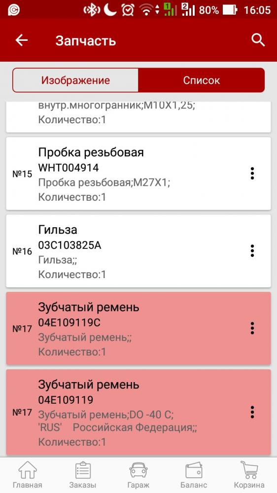 Артикул ремня ГРМ Шкоды Рапид